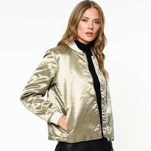 Levi's Satin Insulated Thermal Bomber Jacket
